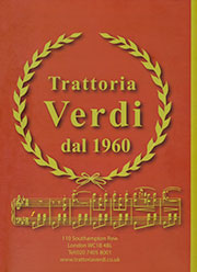 Trattoria Verdi Restaurant Menu Download PDF